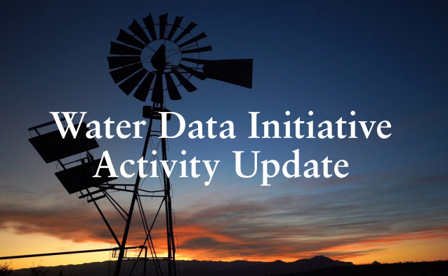 New Mexico Water Data Initiative Activity Update