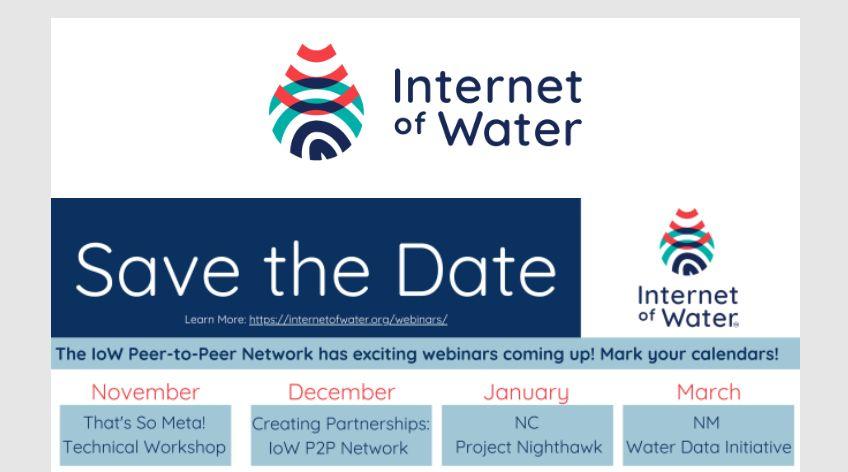 Internet of Water :: Upcoming Webinars